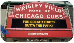 Chicago Wrigley Field Mint Tin W/ 4-color Process Label (72 Mints)