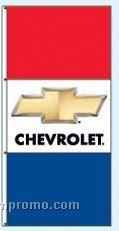 Stock Single Face Dealer Rotator Drape Flags - Chevrolet