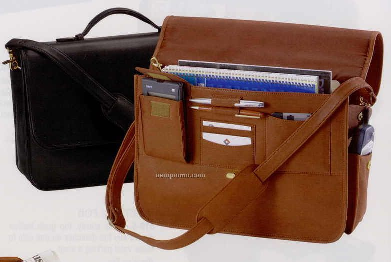 "16""X11-1/2""X4"" Leather Executive Briefcase"