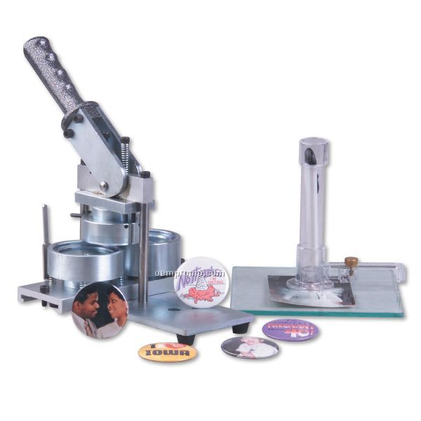 Button Machine W/ Adjustable Rotary Cutter