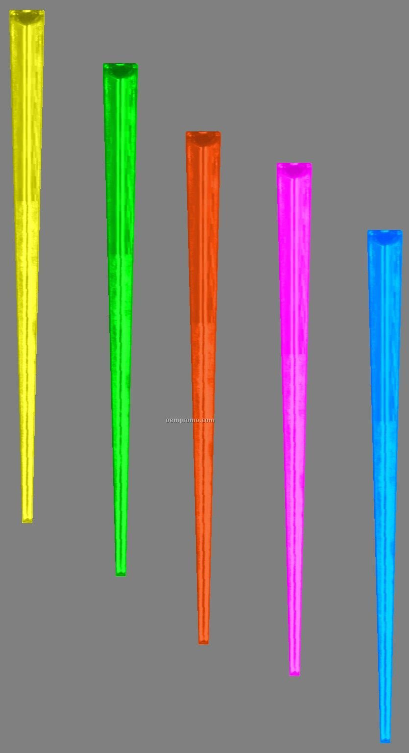 """D60a 3.5"""" Triangle Pick (Assorted Fluorescent Colors)"""