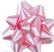 "Pre-assembled Metallic Star Bow W/ 1/2"" Ribbon - 2 3/4"" Diameter"