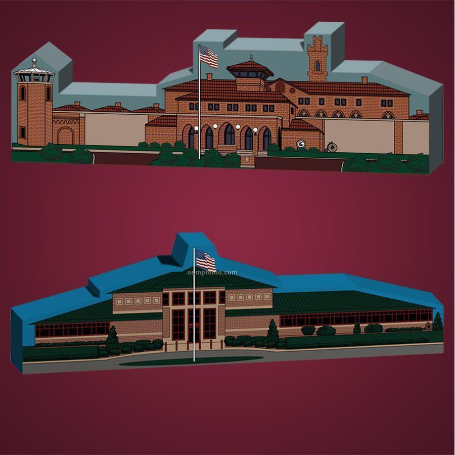 32-1/2 Square Inch Correctional Facilities Wooden Replica