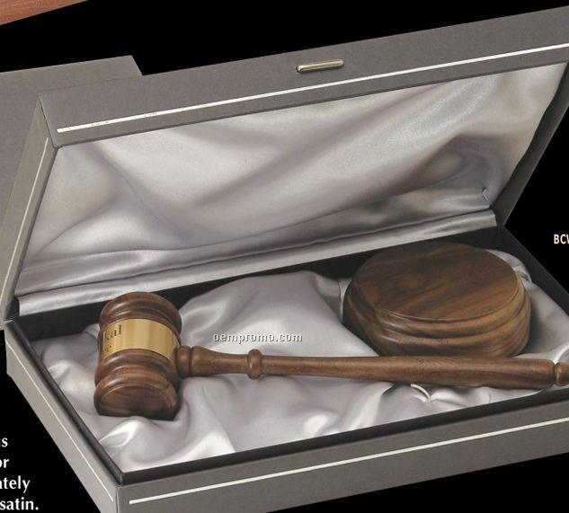 Ebony Finish Standard Chairman Gavel W/ Presentation Case