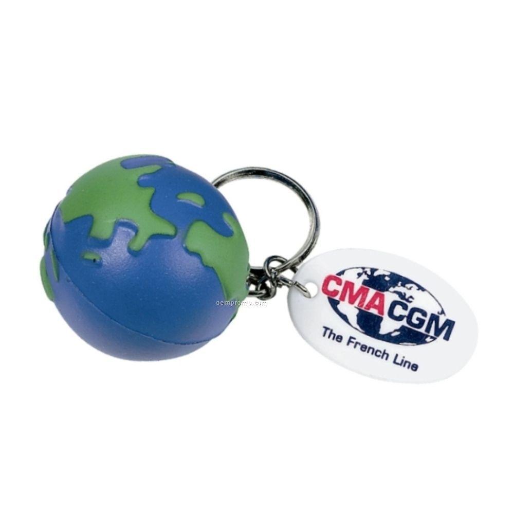 Globe Stress Keychain