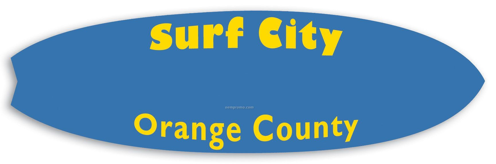 Surfboard Poly Badge - 1.625 X 5.5""