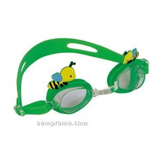 Swim Goggles With Cartoon Accents