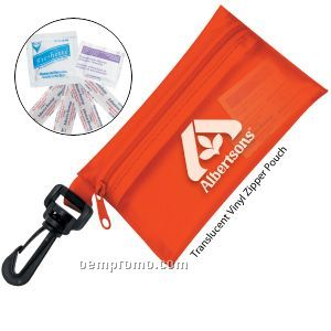 Take-a-long First Aid Kit #2 W/ Translucent Vinyl Zipper Pouch