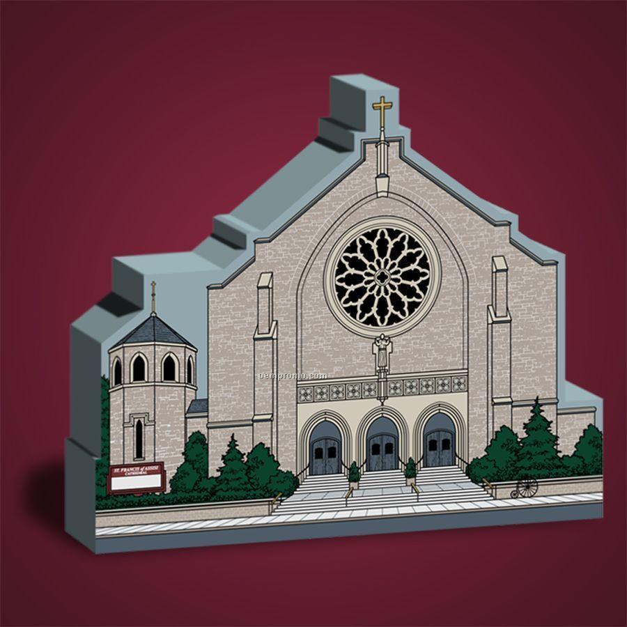 32-1/2 Square Inch Wooden Replica Church