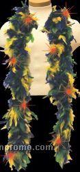 6' Lighted Mardi Gras Multi Color Feather Boa