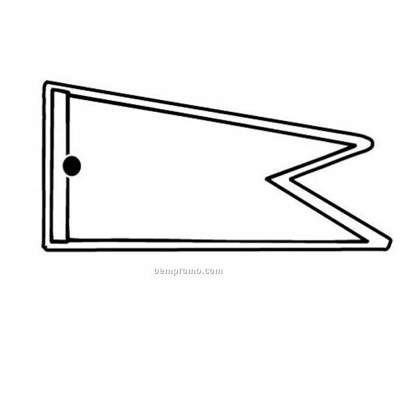 Stock Shape Collection Pennant W/ 2 Points Key Tag