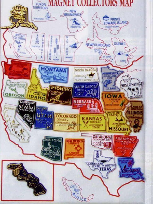 X Folding Magnet Collectors Map Without MagnetsChina - Us magnetic travel map