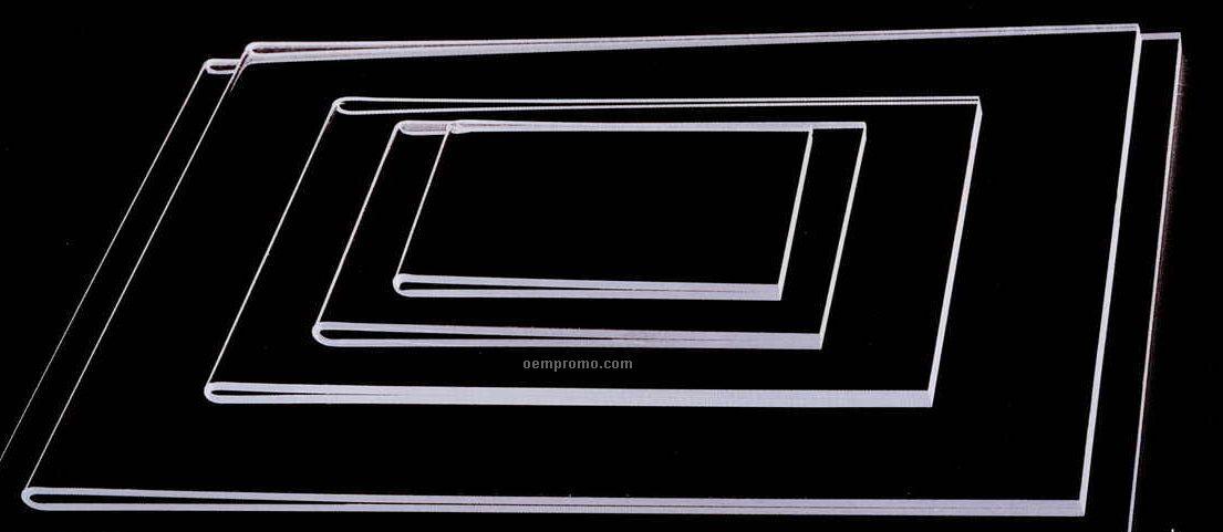 Acrylic U Fold Certificate Frame (4