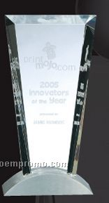 Optical Crystal Vision W/ Aluminum Base Award
