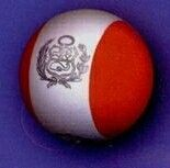 Cool Flags Standard Coolball Peru Antenna Ball