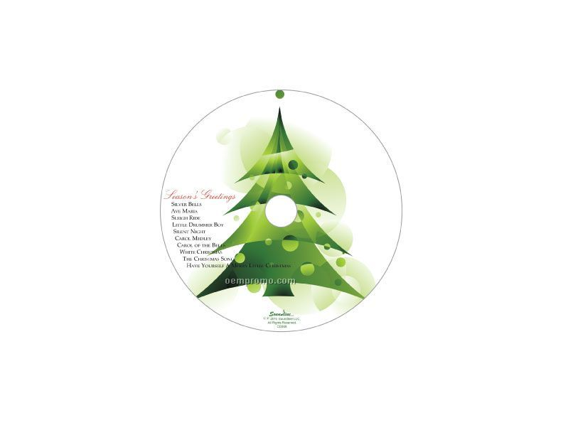 Merry Christmas 3 Tree Greeting Card With Matching CD