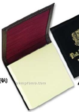 sticky memo pad Leather Note Pad (3