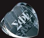 Small Optical Crystal Heart Paperweight