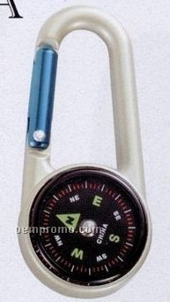 Carabiner Compass With Blue Clip