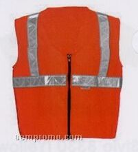Premium Class II Orange Micro-mesh Traffic Safety Vest (5xl) Blank
