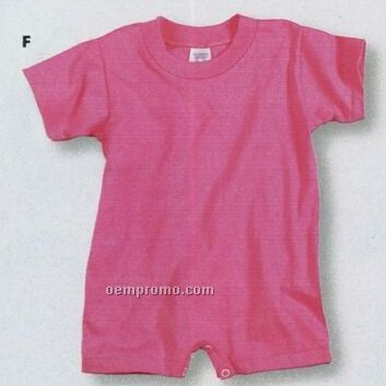 Rabbit Skins Infant 99/1 Cotton/ Poly T-shirt Romper