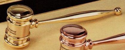 14 Karat Gold Executive Gavel W/ Presentation Case