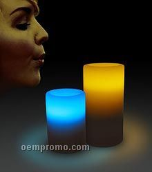 Bi-color LED Blow On-off Candle