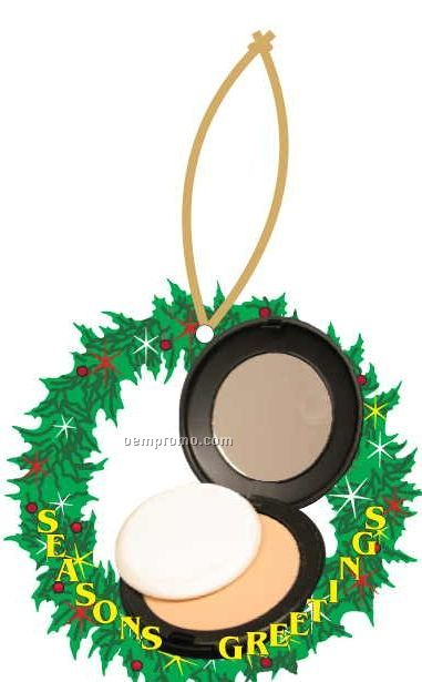 Compact Executive Wreath Ornament W/ Mirrored Back (10 Square Inch)