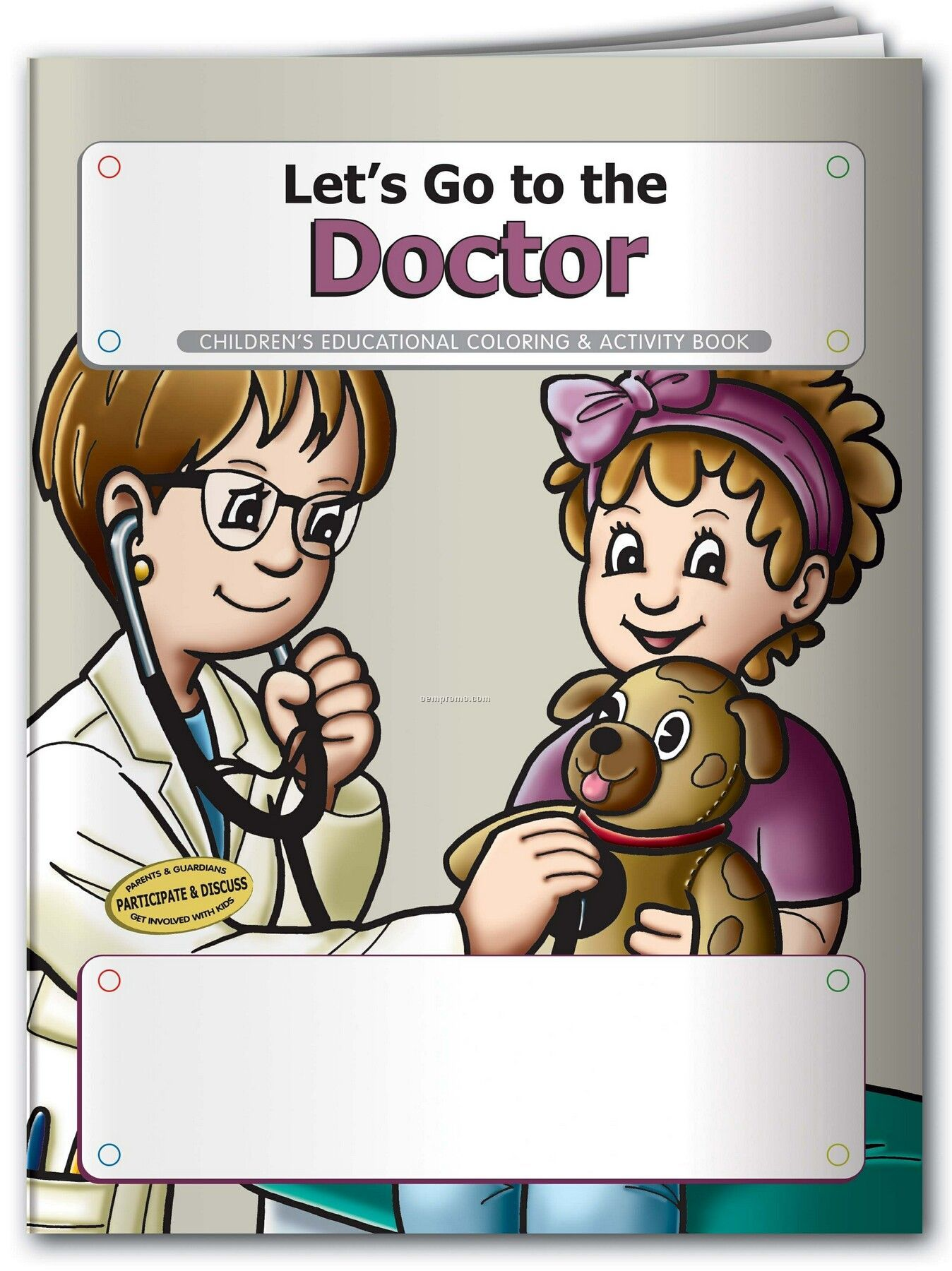 Pillowline Let's Go To The Doctor Coloring Book