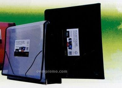 Translucent Blue Pocket Folder