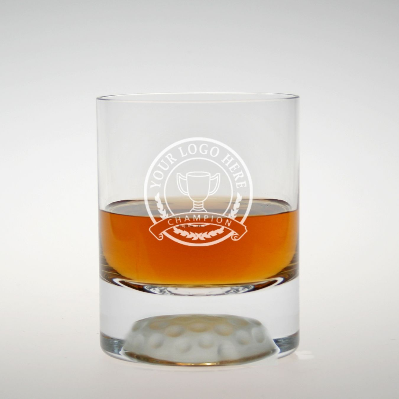 12 Oz. Fairway On The Rocks Glass (Set Of 4 - Deep Etched)