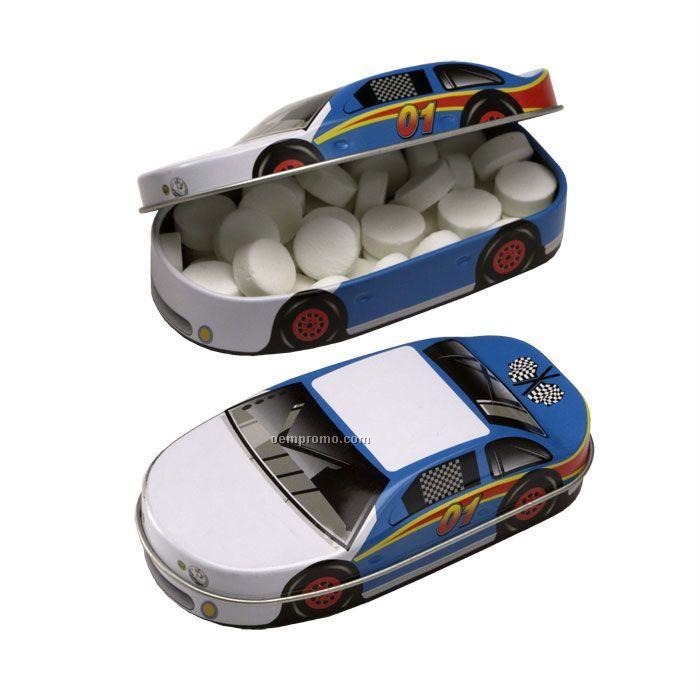 Minty 500 Race Car Tin W/ Sugar-free Micromints