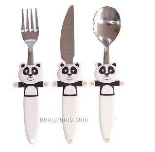 Panda Utensils - Set Of Fork, Knife & Spoon
