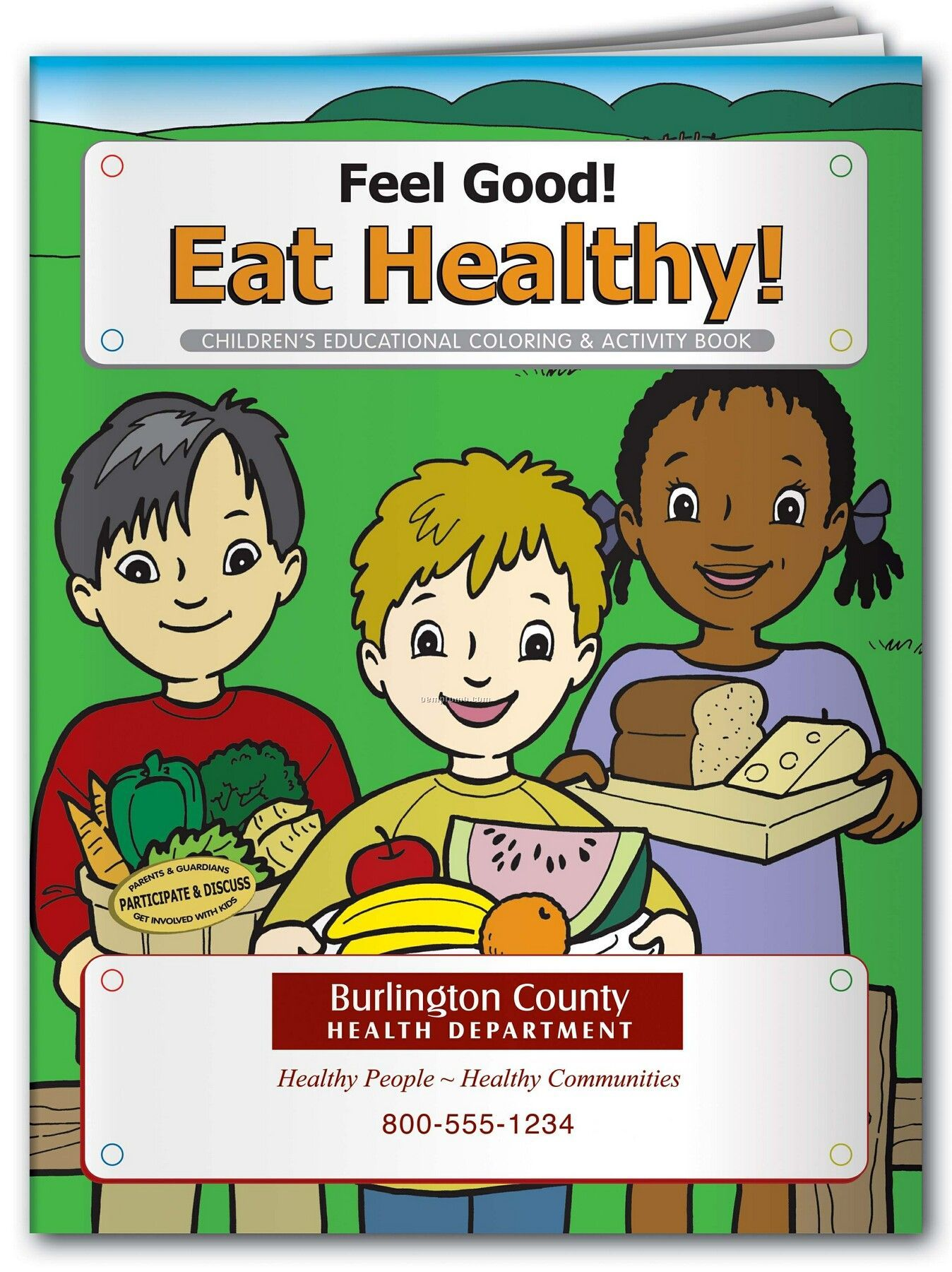 Pillowline Feel Good Eat Healthy Coloring Book
