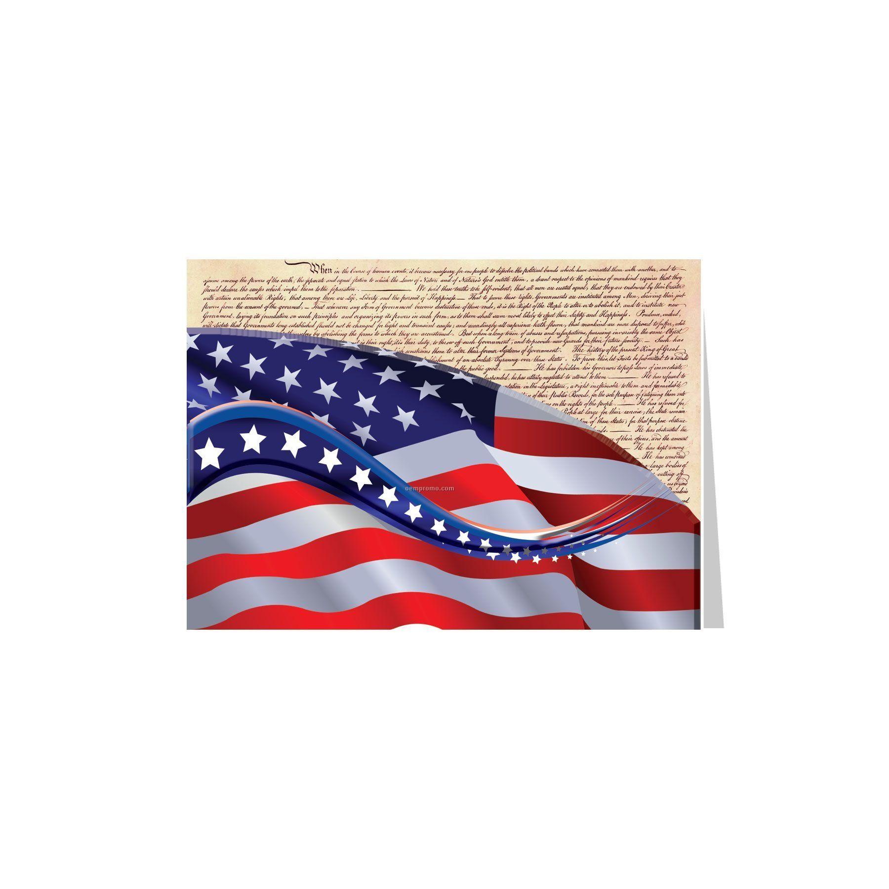 American Flag Constitution Patriotic Greeting Cardchina Wholesale