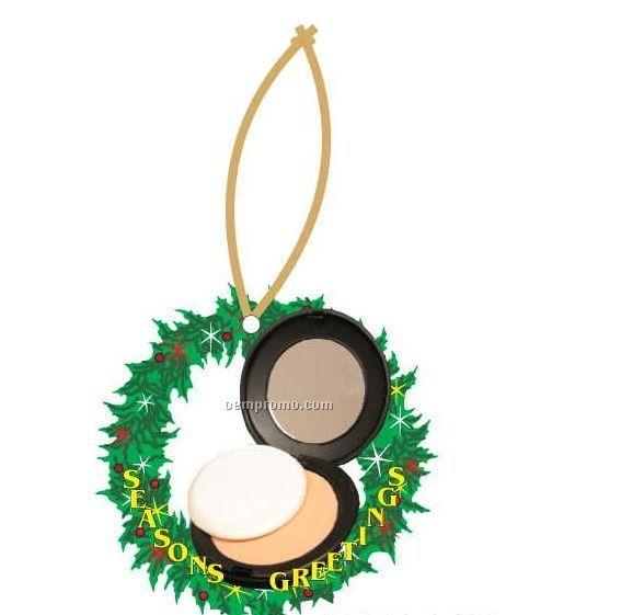 Compact Executive Wreath Ornament W/ Mirrored Back (12 Square Inch)