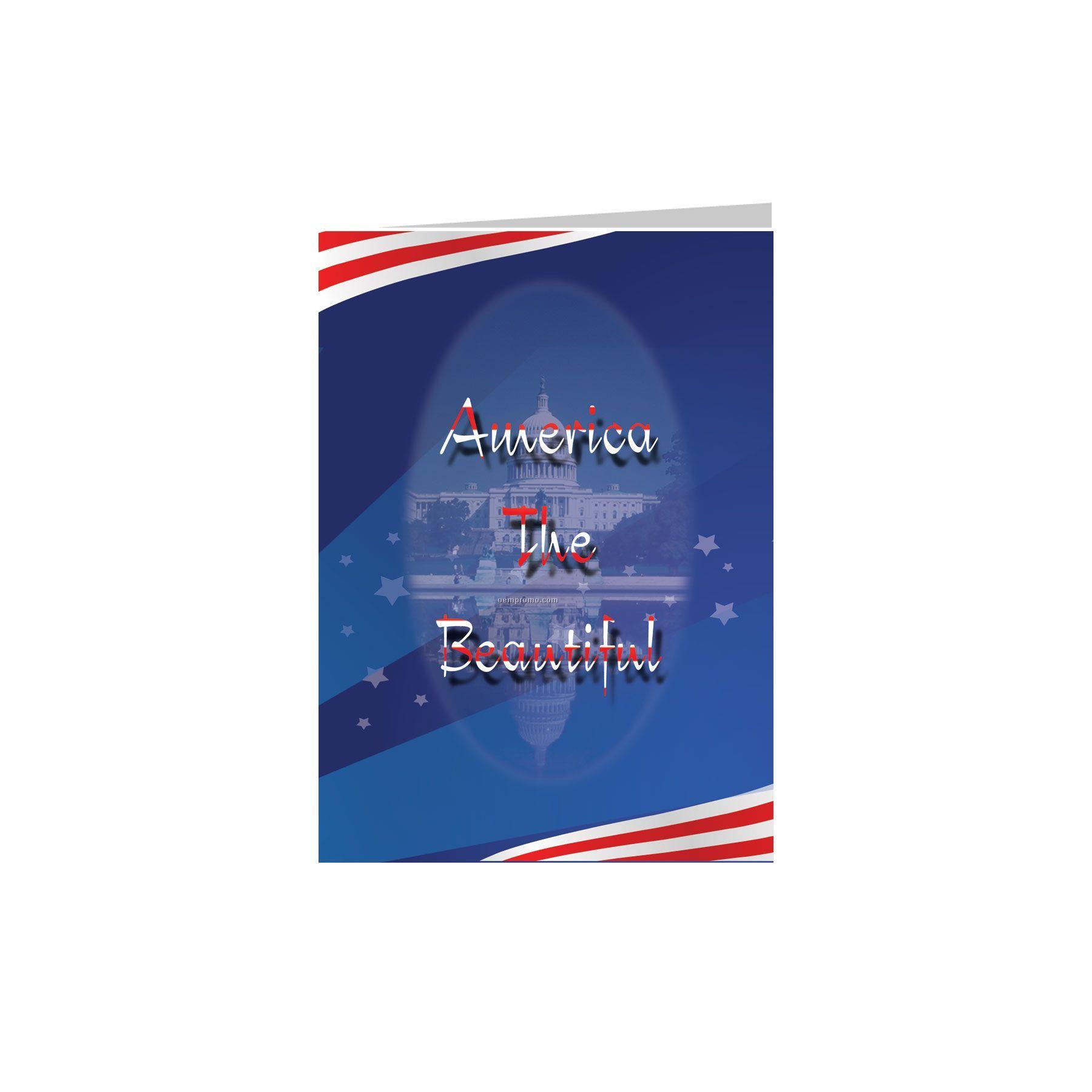 America The Beautiful Patriotic Greeting Card China