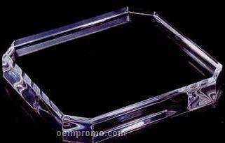 """Black Acrylic Specialty Base - Corner Cut (3/4""""X5""""X5"""")"""