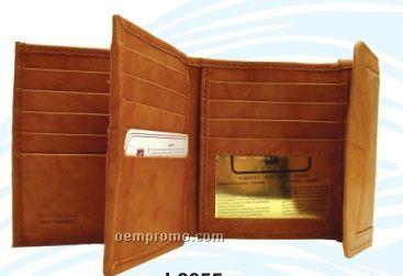 Ladies' Medium Brown 18 Credit Card Pocket Wallet W/ Center Section