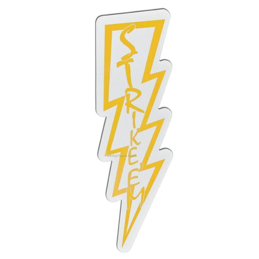 Spirit Corrugated Vinyl Sign - Lightning
