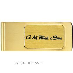 The Dinero Money Clip / Imprint On Foil / Thin Rectangle