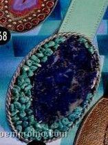 Belt With Large Stone Set Buckle