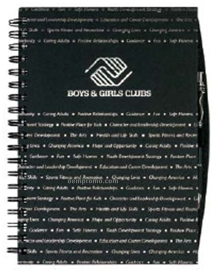 Classic Cover Journal / Pen Safe W/ 50 Sheet