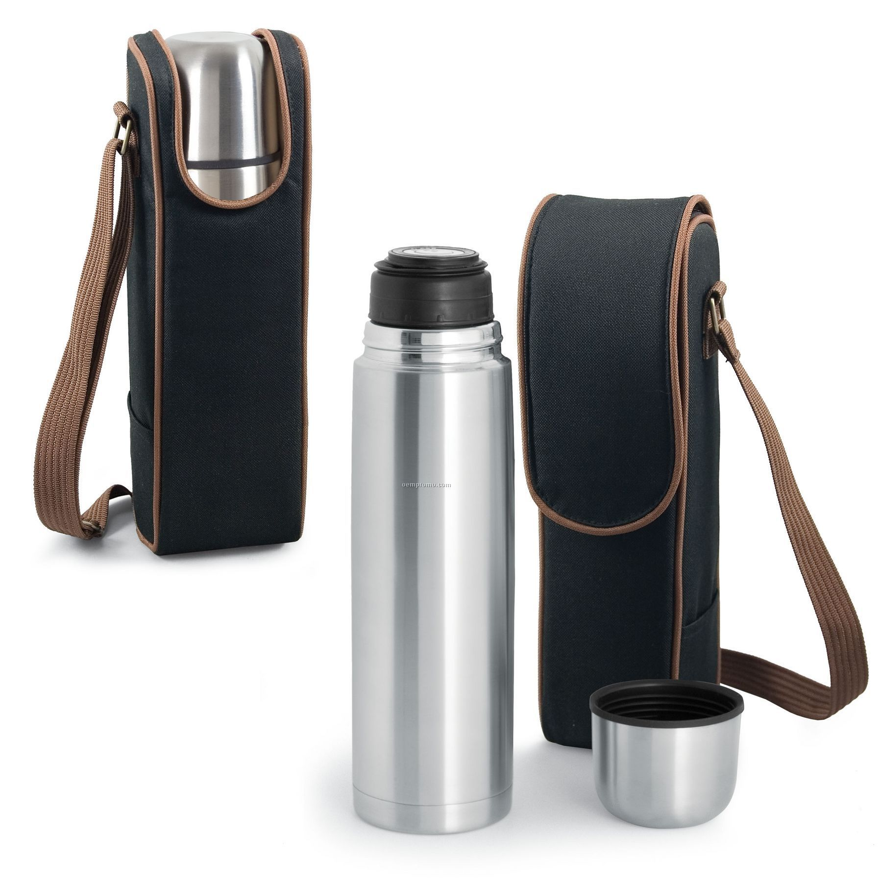 Metro Kona Express Coffee Tote Bag W/ 24 Oz. Vacuum Flask