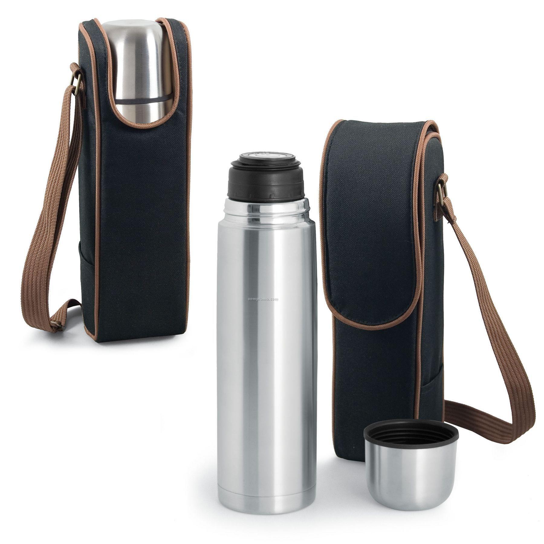 Metro Kona Express Coffee Tote Bag W/ 24 Oz. Vacuum Flask