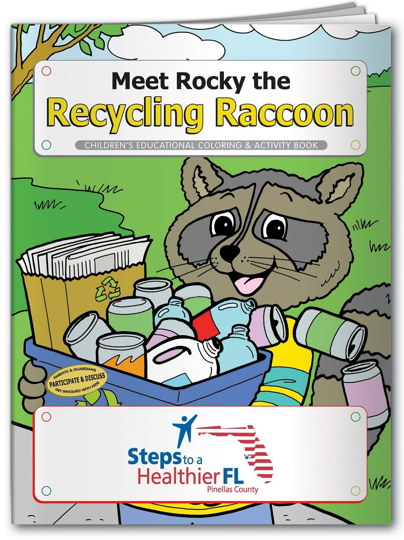 Pillowline Meet Rocky The Recycling Racoon Coloring Book