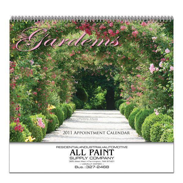 Spiral Bound Wall Calendar (Gardens)