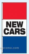 Single Face Stock Message Rotator Drape Flags - New Cars