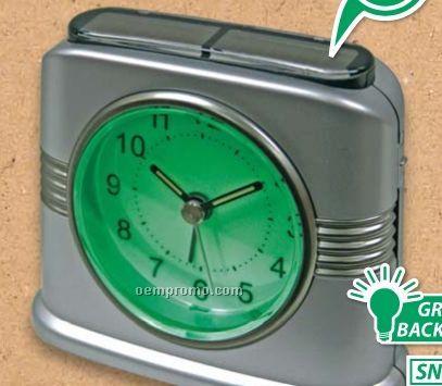 Solar Hybrid Analog Alarm Clock