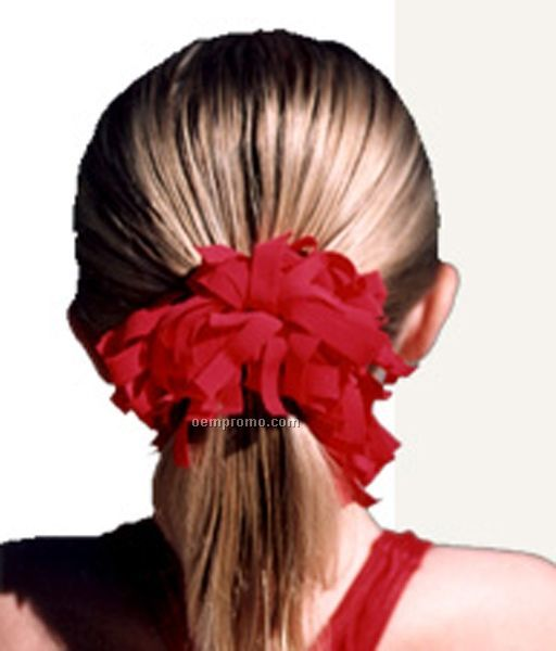 Spirit Pomchie Ponytail Holder - Black & Burgundy Red